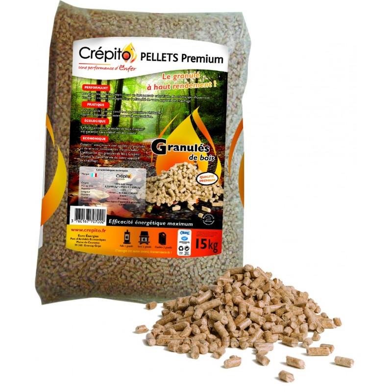 Granulés de bois Crépito (palette de 72 sacs - 1080kg) - Granulés de bois & pellets - Piskorski