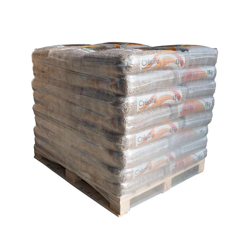 Demi-Palette de Granulés de bois sacs 15kg Crépito - Granulés de bois & pellets - Piskorski
