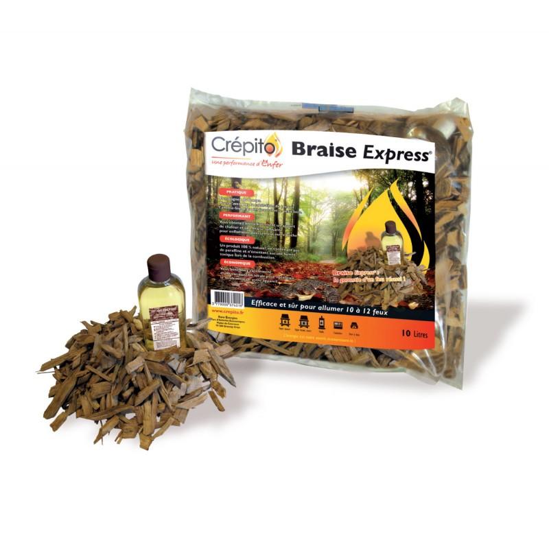 Allume Feu Braise Express Crépito - Allume-feu et bûchettes de bois pour allumage - Piskorski