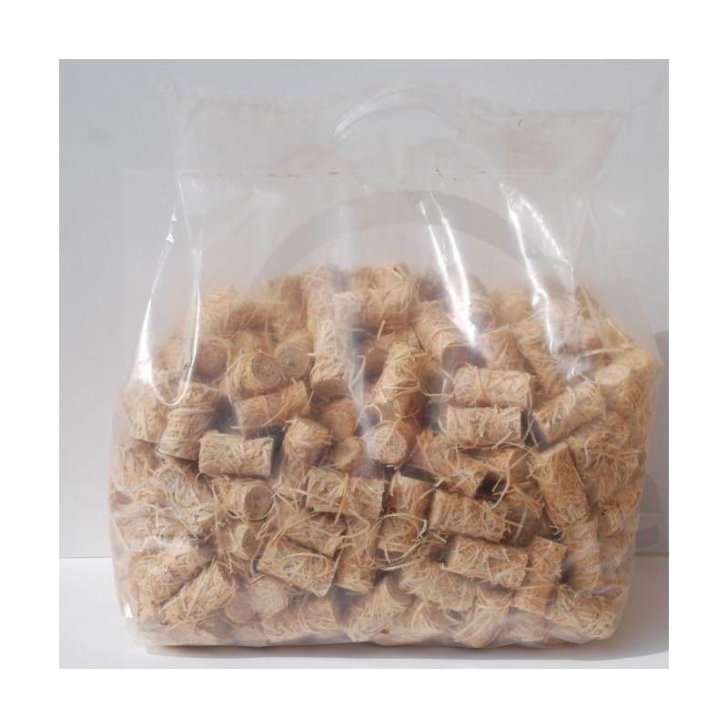 Sac d'allume-feux 100% naturel en laine de bois 12,5kg (950 pce) - Allume-feu et bûchettes de bois pour allumage - Piskorski