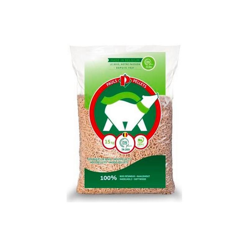 Demi palette de Granulés de bois PAULS Pellets 35 sacs - 525kg - Granulés de bois & pellets - Piskorski