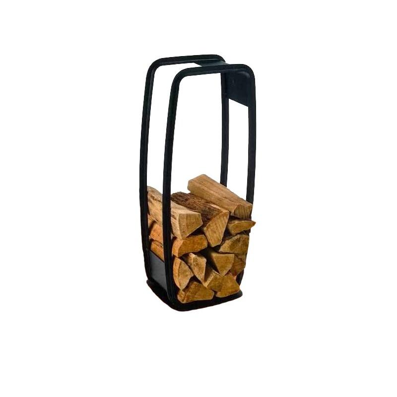 JEROBOAM Rangement à Bûches Noir - Rangements à bois de chauffage - Piskorski