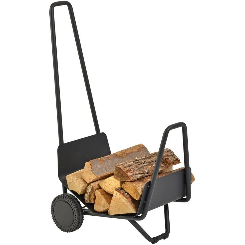 TROTTY Chariot à bois - Accessoires pour pôeles et cheminées à bois chauffage - Piskorski
