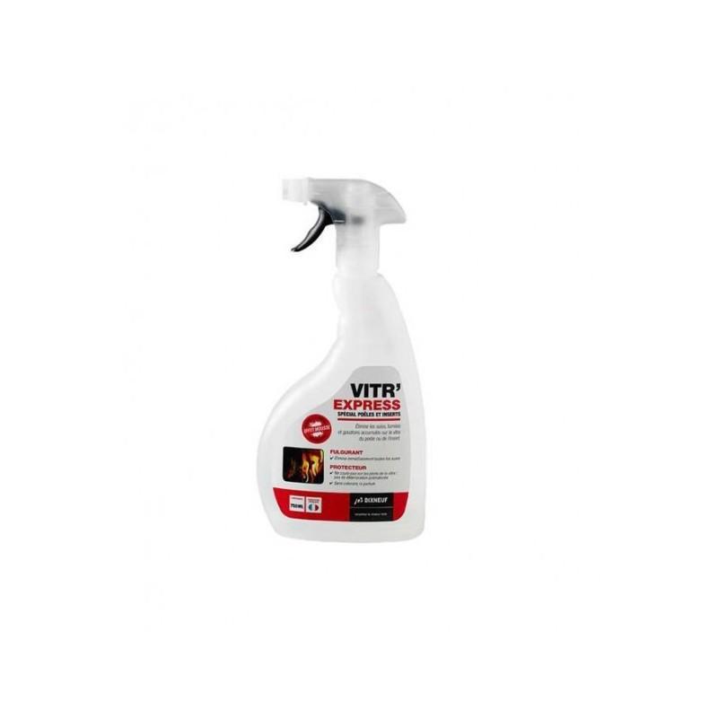 Produit nettoyant vitres et inserts - Vitr'Express - Accessoires pour pôeles et cheminées à bois chauffage - Piskorski