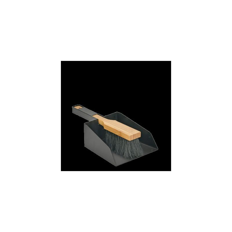 Balai et pelle à cendres DUETTO - Accessoires pour pôeles et cheminées à bois chauffage - Piskorski