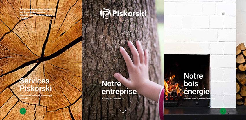 Site web Piskorski, exploitation forestière, production & vente de bois de chauffage & pellets - Piskorski